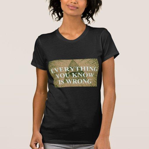 Todo que usted sabe es incorrecto camisetas