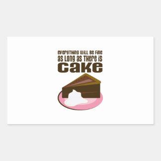 Todo será fino mientras haya torta pegatina rectangular