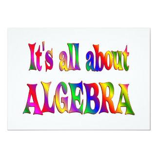 "Todo sobre álgebra invitación 5"" x 7"""