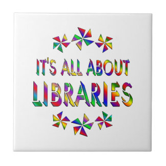 Todo sobre bibliotecas azulejo cuadrado pequeño