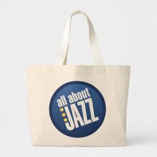 Todo sobre bolso del jazz bolsa de tela grande