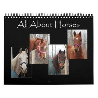 Todo sobre caballos calendarios de pared
