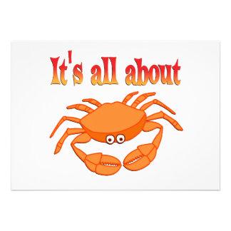 Todo sobre cangrejo invitaciones personales