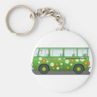 Todo sobre el autobús del amor llavero redondo tipo pin