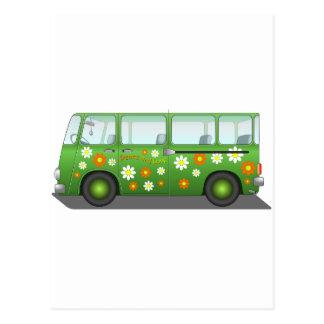 Todo sobre el autobús del amor tarjeta postal