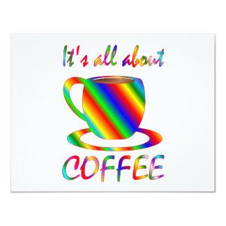 Todo sobre el café invitaciones personalizada