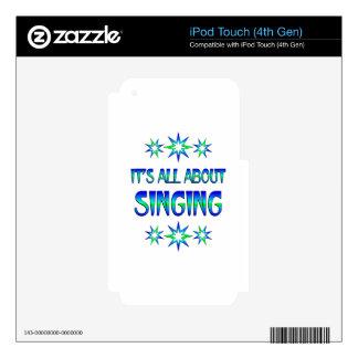 Todo sobre el canto calcomanías para iPod touch 4G