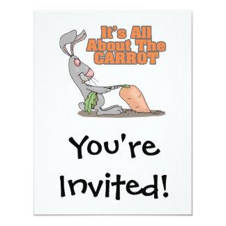 """todo sobre el dibujo animado divertido del conejo invitación 4.25"""" x 5.5"""""""
