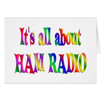 Todo sobre el equipo de radio-aficionado felicitacion