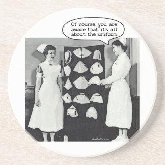 Todo sobre el uniforme de la enfermera posavasos para bebidas