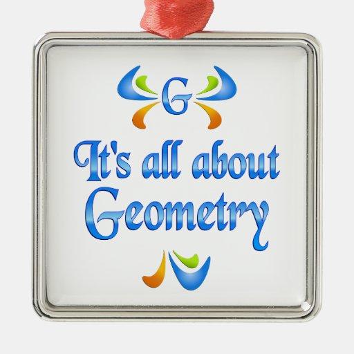 Todo sobre geometría adorno navideño cuadrado de metal