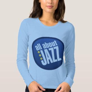 Todo sobre jazz las señoras cupieron la camiseta remera
