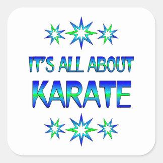 Todo sobre karate pegatina cuadrada