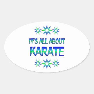 Todo sobre karate pegatina ovalada