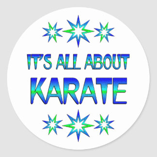 Todo sobre karate pegatina redonda