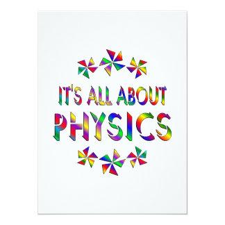 """Todo sobre la física invitación 5.5"""" x 7.5"""""""