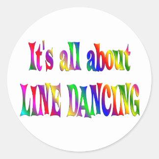 Todo sobre la línea baile etiquetas redondas