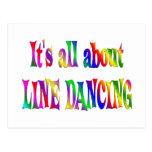 Todo sobre la línea baile tarjeta postal