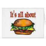 Todo sobre las hamburguesas felicitación