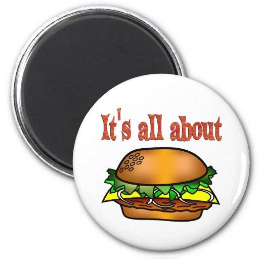 Todo sobre las hamburguesas imanes para frigoríficos