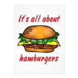 Todo sobre las hamburguesas invitacion personal