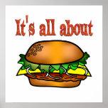Todo sobre las hamburguesas posters