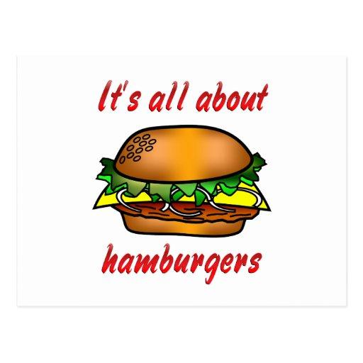 Todo sobre las hamburguesas tarjeta postal