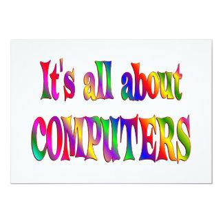 """Todo sobre los ordenadores invitación 5"""" x 7"""""""