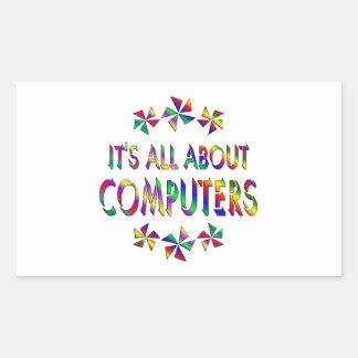 Todo sobre los ordenadores pegatina rectangular