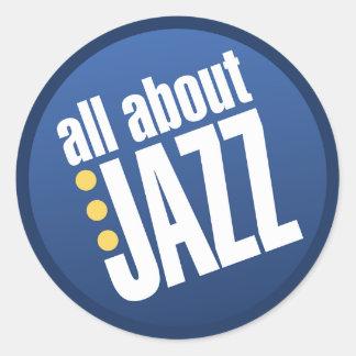 Todo sobre los pegatinas del jazz pegatina redonda