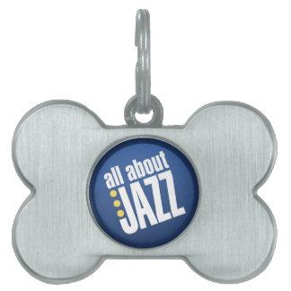 Todo sobre placa de identificación del jazz placa de mascota