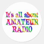 Todo sobre radio aficionada pegatina redonda