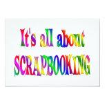 Todo sobre Scrapbooking Invitación 12,7 X 17,8 Cm