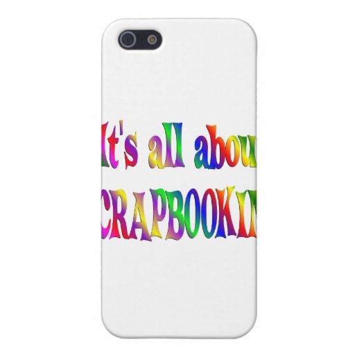 Todo sobre Scrapbooking iPhone 5 Cárcasa