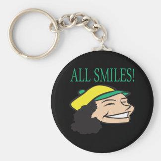 Todo sonríe llaveros personalizados