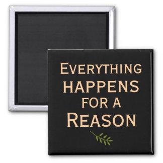 Todo sucede para un imán de la razón