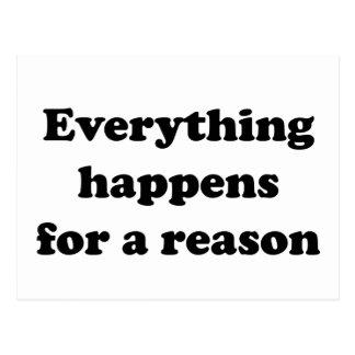 Todo sucede por una razón postales