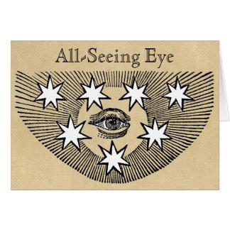 Todo-Ver el ojo Tarjeta De Felicitación