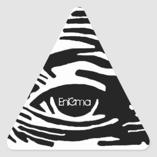 Todo viendo pegatina triangular