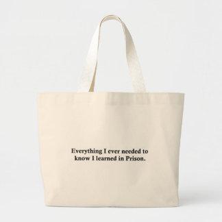 Todo y prisión bolsas