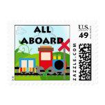Todos a bordo de sellos del tren