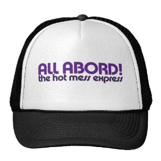 Todos a bordo del lío caliente expreso gorras