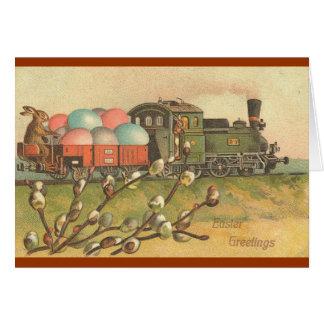¡Todos a bordo! ¡El tren de Pascua! Felicitacion