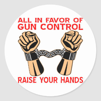 Todos a favor de aumento del control de armas sus etiqueta redonda