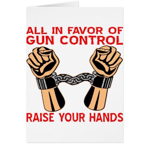 Todos a favor de aumento del control de armas sus  tarjetas