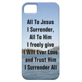 Todos a Jesús que me entrego iPhone 5 Carcasas