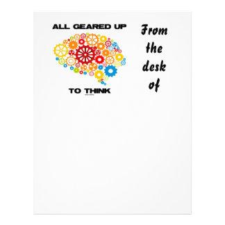 Todos adaptados para arriba para pensar (cerebro plantillas de membrete