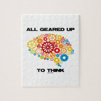 Todos adaptados para arriba para pensar (cerebro puzzle