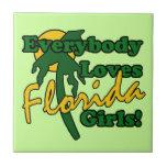 Todos ama a los chicas de la Florida Teja Ceramica