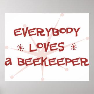 Todos ama a un apicultor poster